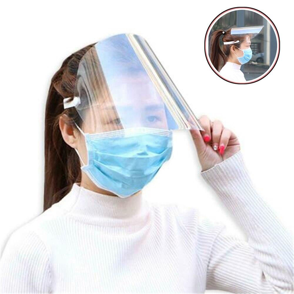 Masque de Protection facial Transparent, 1 pièce, Anti-gouttelette, Anti-poussière, visière Anti-broche volante, outil de cuisine