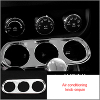 For Jeep Compass Patriot 10-15 Air conditioning knob sequin chrome molding trim 1pc