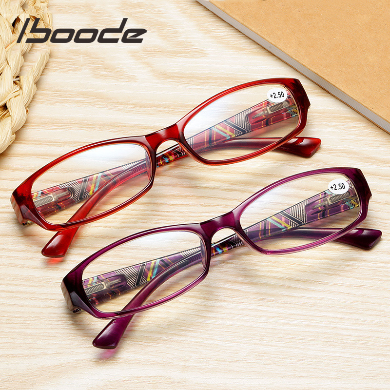 Iboode Reading Glasses Anti Blue Light Magnifying Presbyopia Women Ladies Square Anti Blue Ray Presbyopic Glasses +1.0 To 4.0