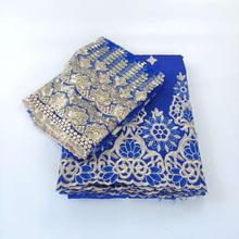 George-Fabric Embroidery Wedding-Dress Sequined Royal-Blue Indian Mesh Lace Top-Quality