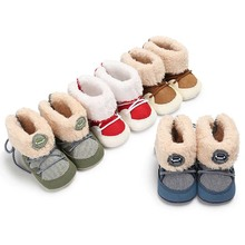 Baby Boys Winter Warm Snow Boots Newborn Lace Up Soft Sole Shoes Infant Toddler Fashion Stripped Wool Girls Warm First Walkers fashion baby shoes newborn girls boys warm rainbow snow boots toddler first walkers infant sweet soft sole prewalker crib shoes
