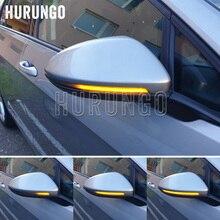 2 قطعة ل VW Golf MK7 7.5 7 GTI R GTD ديناميكية الوامض LED بدوره إشارة ل Volkswagen Rline sportvan توران الجانب مرآة ضوء