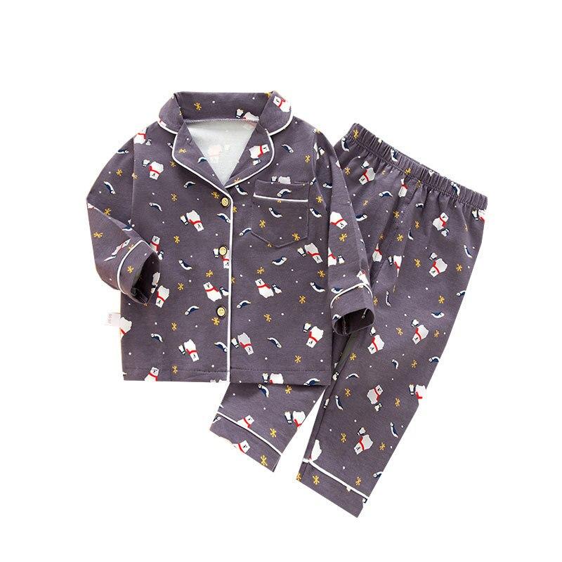 SAILEROAD Cartoon Polar Bear Pajamas For Boys Children's Long Sleeve Pajamas Set Kids Animal Printed Pijama Infantil Sleepwear