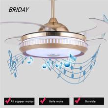 Потолочный вентилятор музыка умное приложение невидимая светодиодная