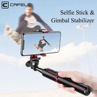 Cafele stabilizzatore cardanico palmare compatibile con Selfie Stick Bluetooth per Huawei iPhone Samsung Smart Phone PTZ Action Camera