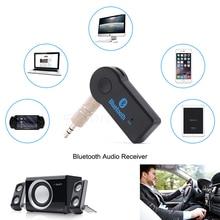 Pcmos 3.5mm 무선 핸디 블루투스 수신기 송신기 어댑터 잭 자동차 음악 오디오 Aux A2dp 인테리어 액세서리 클립