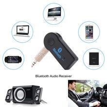 Pcmos 3,5mm inalámbrico Handfree Bluetooth receptor transmisor adaptador Jack para la música del coche Audio Aux A2dp accesorios interiores Clip