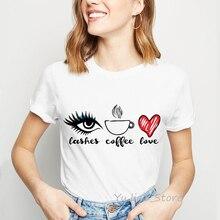 Cashes coffee love print funny graphic tees women simple tumblr clothes harajuku kawaii t shirt top female t-shirt custom tshirt