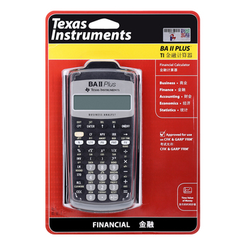 TI BAII plus financial calculator BAII CMA/FRM financial accounting CFA examination financial clear calculator examination image