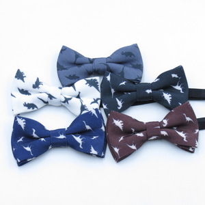 dinosaur print bow tie New Style Children Bowtie Baby Classical Pet Bowtie soft fashion Bow tie fashion Butterfly tie dinosaur