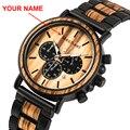 Relogio Masculino BOBO BIRD деревянные персонализированные часы мужские роскошные Хронограф военные часы на заказ подарок для Него дропшиппинг
