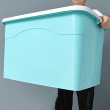 Extra Large Storage Box, Plastic Clothes, Quilt, Thickening Storage Box, Household Storage Box with Pulley