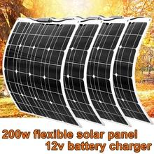 Panneau solaire Flexible 200w 100w 50w 12v chargeur solaire système à la maison pour voiture RV bateau caravane 1000w PV Module 540*530*3mm étanche