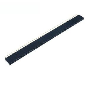 10PCS 2.54mm 40 Pin Stright Female Single Row Pin Header Strip PCB Connector