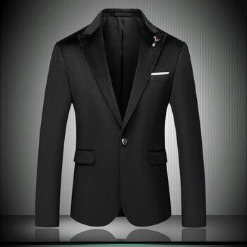Classic Black Men Wedding Suit Jacket Size 4XL 5XL Slim Design Men Business Suit Coat High Quality Men Formal Blazer Jackets