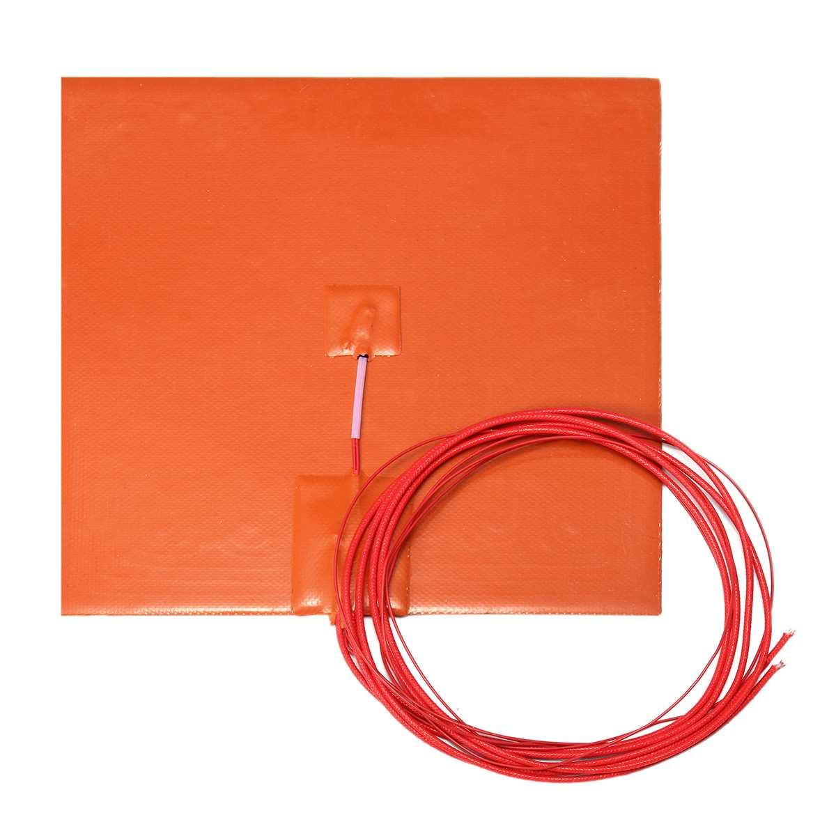20x20 см гибкий водонепроницаемый силиконовый нагревательный коврик провода электрические нагревательные колодки для 3D-принтера части подо...