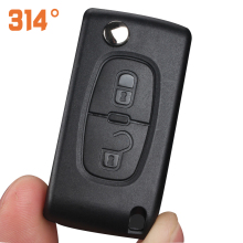 2 3 Button Car Remote Control Key Shell Black Folding Key Housing Suit For Peugeot 307
