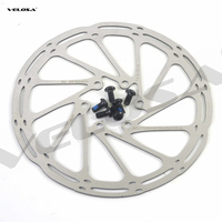 Freno de disco de bicicleta de montaña/carretera de alta calidad, disco de ciclocross, 6 pernos de 44mm, 140mm, 160mm, 180mm, con tornillos
