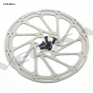 high quality MTB/road disc brake/cyclocross bike brake disc,44mm 6-bolt,centerline 160mm 180mm bike brake rotor,with screws(China)