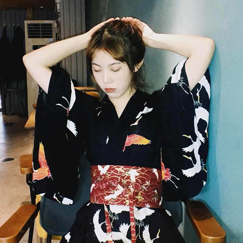 Japanse Kimono Traditionele Jurk Yukata Vrouwelijke Geisha Kostuum Haori Obi Traditionele Japanse Kimono Cosplay Kleding TA2140