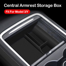 Nieuwe Voor Tesla Model 3 Y 2021 Auto Centrale Armsteun Opbergdoos Organizer Center Console Massaal/Abs Organisator Containers houder