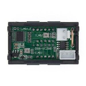 """Image 2 - DC 0 100V 10A voltmètre numérique ampèremètre double affichage détecteur de tension courant mètre panneau ampèremètre 0.28 """"rouge bleu LED"""