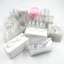 Оптовая продажа 50/пакет прозрачная ресниц лотки Пластик норки