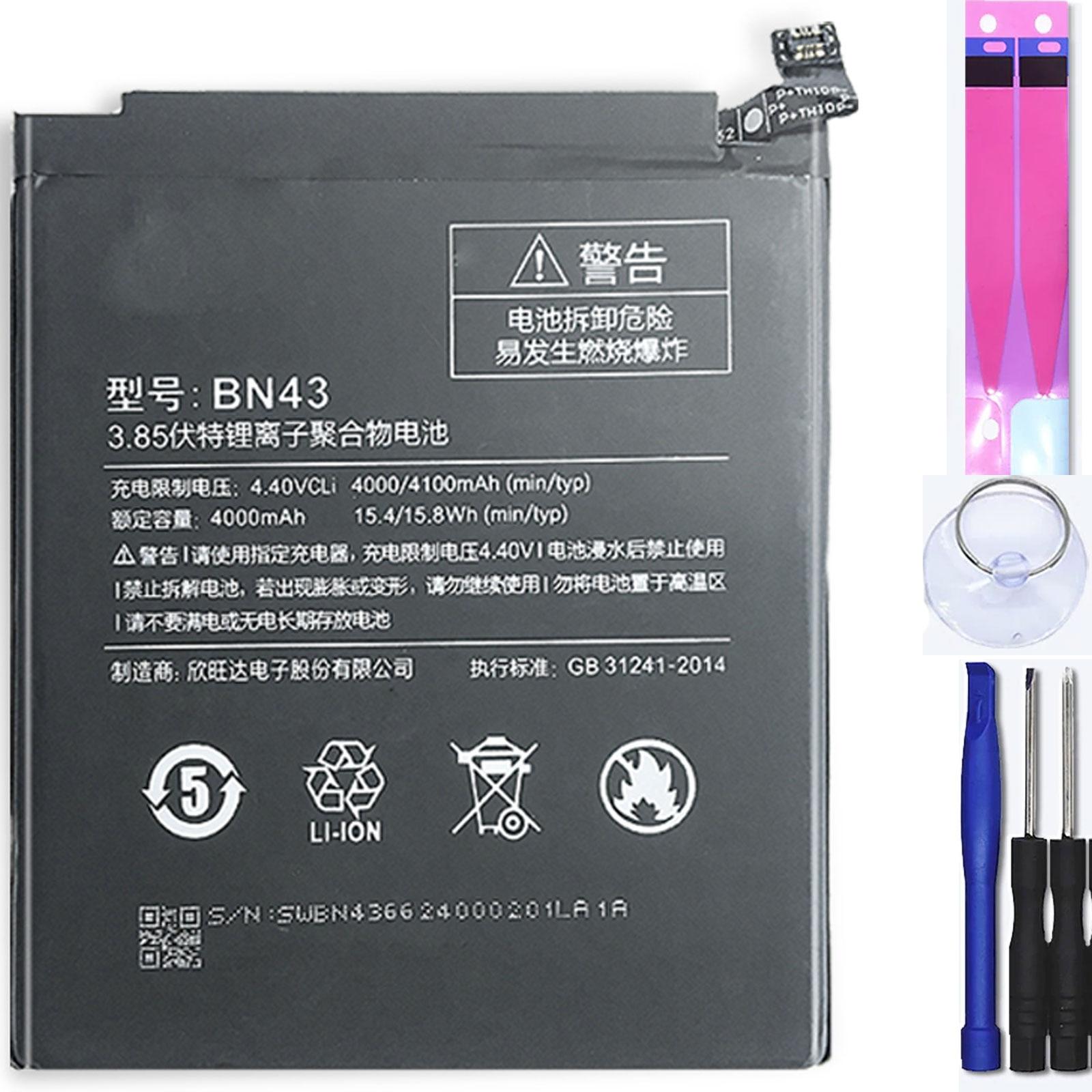 Аккумулятор для Xiaomi Redmi Note 4x, MPN Оригинал: BN43 Аккумуляторы для мобильных телефонов      АлиЭкспресс
