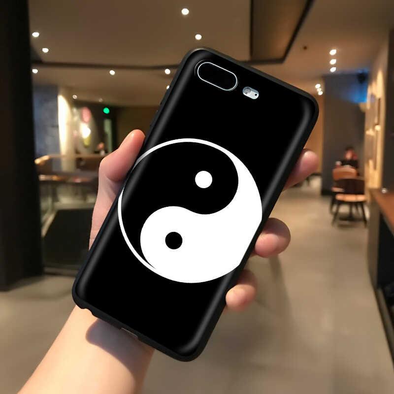 YIMAOC Yin Yang Chinesischen Silikon Weiche Fall für iPhone 11 Pro XS Max XR X 8 7 6 6S plus 5 5S SE