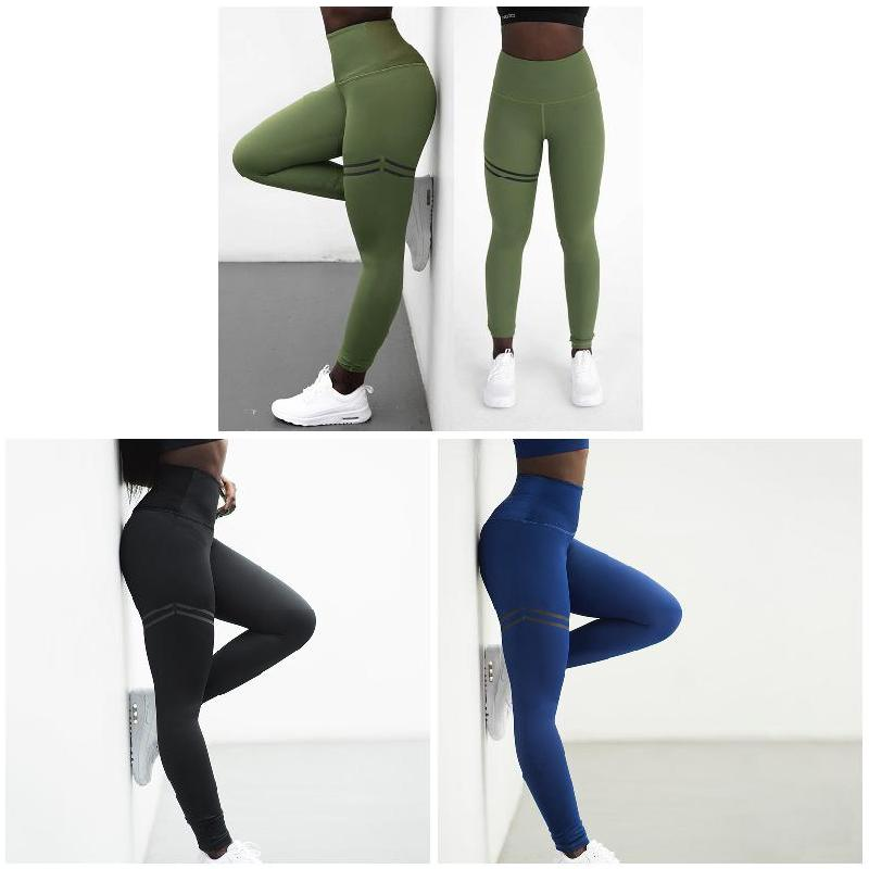 Women High Waist Anti-Cellulite Compression Slim Leggings 2019 Fashion Weight Loss Motion Leggings Female Solid Color Pants
