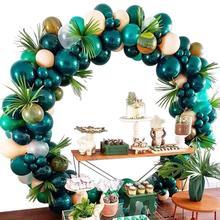Зеленый лес Шар АРКА и гирлянда набор сафари диких животных воздушный шар комплект зоопарк, джунгли Дикие один день рождения Детские вечерние свадебные украшения