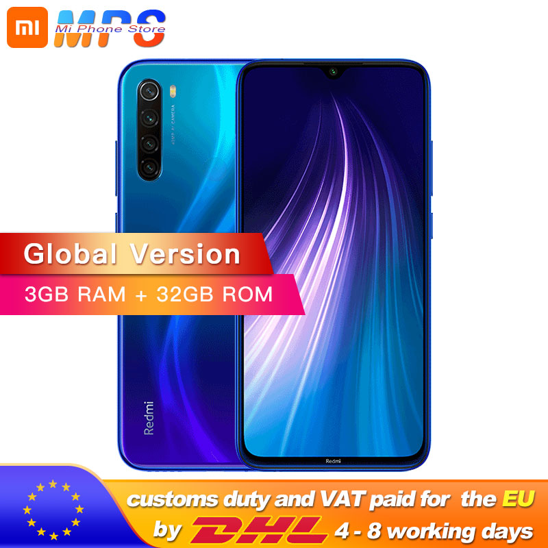 "Global Version Xiaomi Redmi Note 8 3GB 32GB Snapdragon 665 Octa Core Smartphone 6.3"" 48MP Quad Rear Camera MobilePhone 4000mAh"