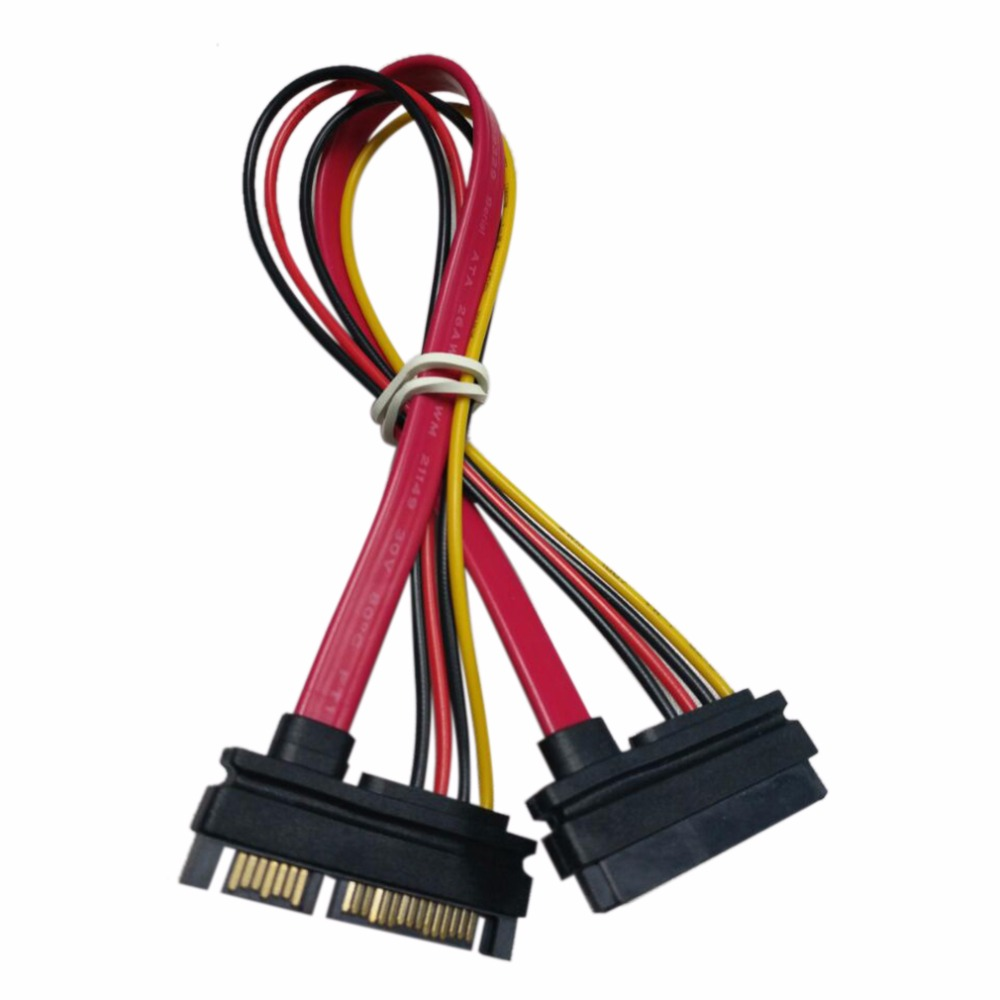 New 7+15 Pin Serial SATA Data Power Combo Extension Cable 1pcs Serial Power Adapter Cable Hot Selling TA SATA To HDD Cable