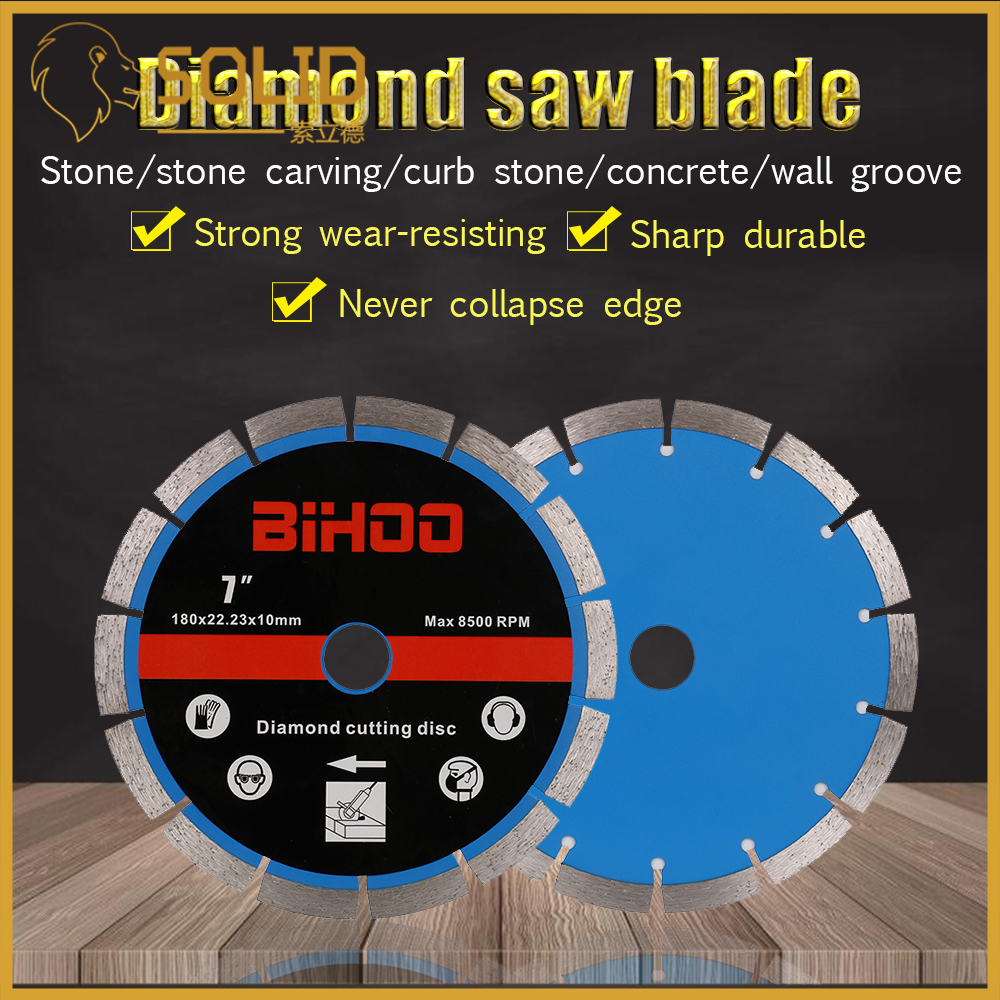 7/9 Inch Diamond Segment Saw Blade Cutting Disc Wet/Dry Circular Cutting Wheel For Cutting Tiles Stone 1Pc