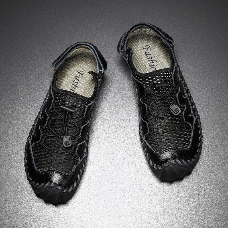 sapatos casuais feitos à mão ao ar