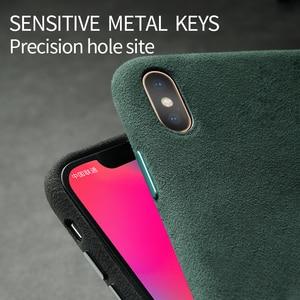 Image 2 - Чехол SanCore для телефона iPhone X XS Max, полностью защищенный корпус из искусственной кожи для деловых телефонов ALCANTARA, замшевая задняя крышка