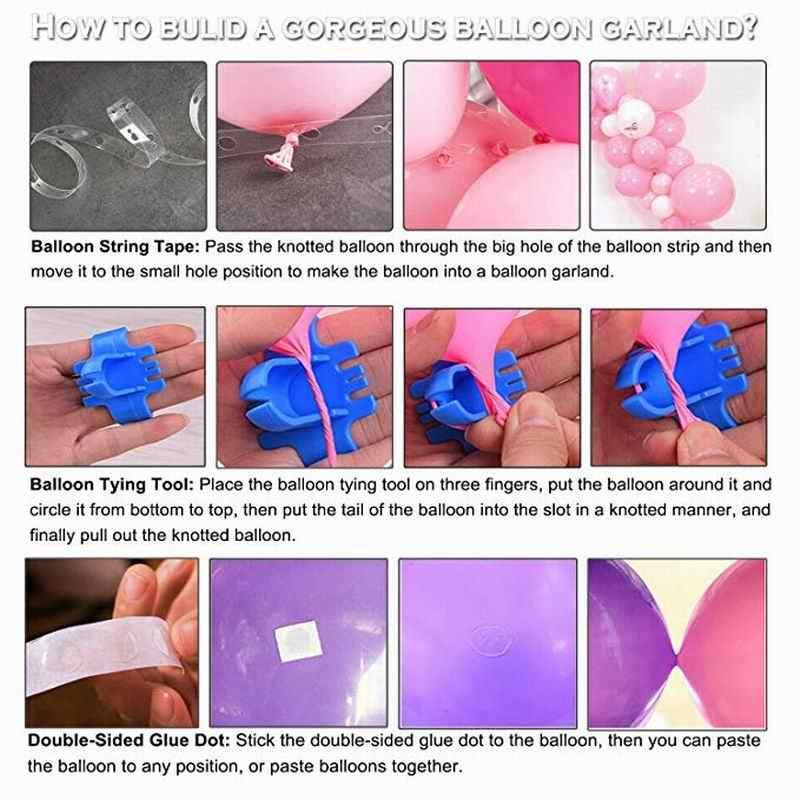 98 adet balon Garland kemer seti beyaz altın konfeti balonları yapay palmiye yaprakları doğum günü partisi düğün süslemeleri