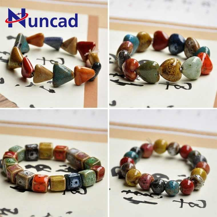 2018 Creative Ethnic Vintage Bracelet For Men And Women Ornaments Flower Glaze Beads Bracelet Geometric Strand Bracelet
