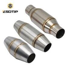 ZSDTRP – pot d'échappement avec noyau de rétro-pression, 35/45/51mm, pour moto, catalyseur silencieux