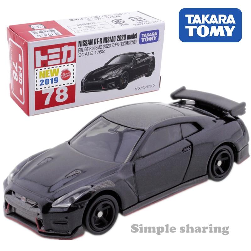 Takara Tomy Tomica Nissan Gtr Nismo 2020 Model 1/62 No.78 Hot Pop Miniature Car Toy Diecast Magic  Funny Kids Toys For Children