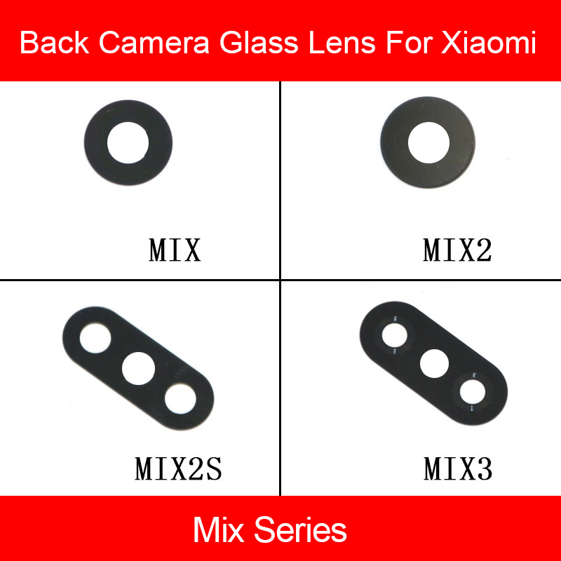 Rear Glass Lens For Xiaomi Mi Mix 2 2s 3 Main Back Camera Lens Glass Material + Sticker Mobile Phone Accessory Replacement Parts