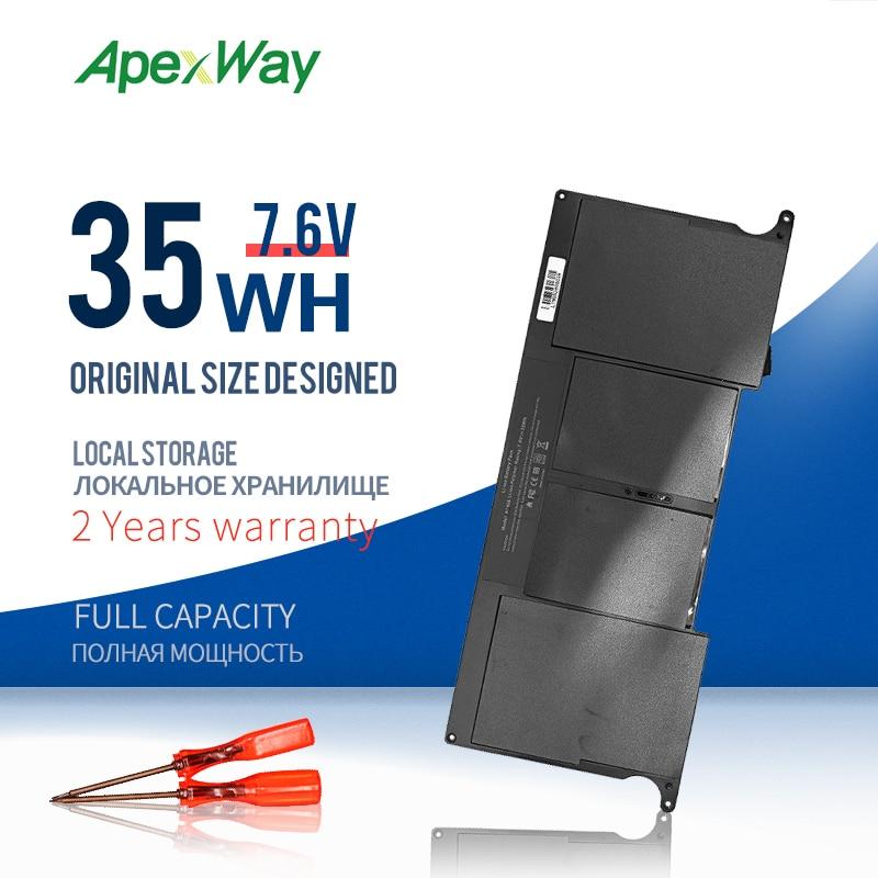 ApexWay 7,6 V Аккумулятор для ноутбука Apple MacBook Air 11