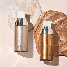 Bronzer Highlighter Liquid Setting Spray Illuminating Face Shimmer Long-lasting Brighten Glow Makeup
