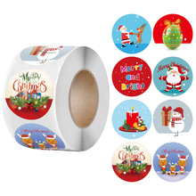 100-500 Pcs 1.5 Inch  Merry Christmas Label Stickers for Gift Package Card Envelope Wrapping Party Baking Small Business