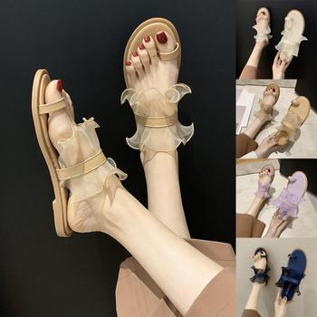 Lato moda kobiety sandały płaski otwarty Toe oddychające sandały Slip-on kwiaty buty na plażę koreański słodki styl dla dziewczyn sandały mujer tanie i dobre opinie SAGACE Podstawowe Mieszkanie z Otwarta RUBBER Niska (1 cm-3 cm) 0-3 cm Na co dzień Pasuje prawda na wymiar weź swój normalny rozmiar