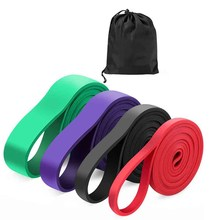 1Pc Resistance Band Exercise Elastic Band Workout Ruber Loop Crossfit Strength Pilates Fitness Equipment Training Expander(China)