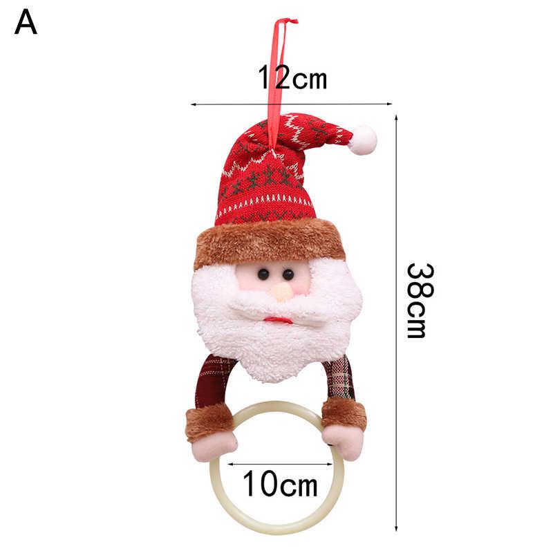 ขายร้อนอุปกรณ์ตกแต่งคริสต์มาส Santa Claus Elk Snowman ผ้าขนหนูแหวนแขวน Rack ต้นคริสต์มาสจี้เครื่องประดับ