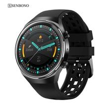 SENBONO New Q8 Smart Watch Sports Fitness Tracker Support Bluetooth Call Heart Rate BP