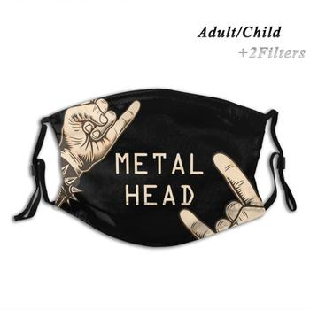 Metalhead Art Mask , T - Shirt , Poster !! Print Reusable Mask Pm2.5 Filter Trendy Mouth Face Mask For Child Adult Metalhead image