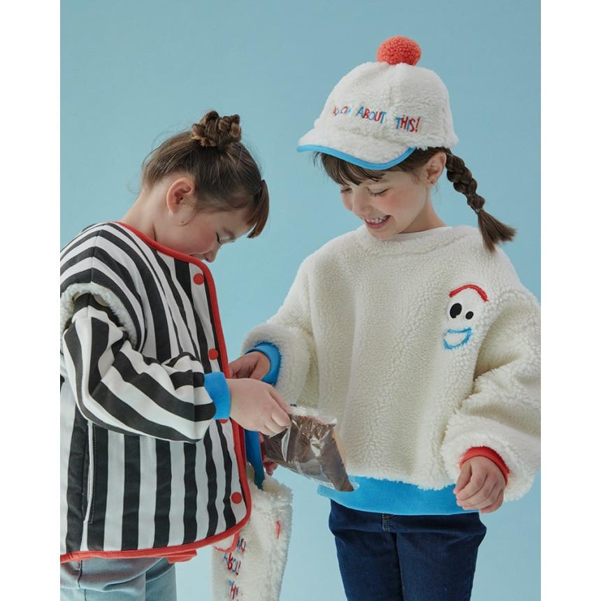 RJ Korea Brand 2021 New Winter Boys Coats Kids Jackets for Girls Cartoon Caca Fur Thick Warm Children Clothes Baby Outwear 5